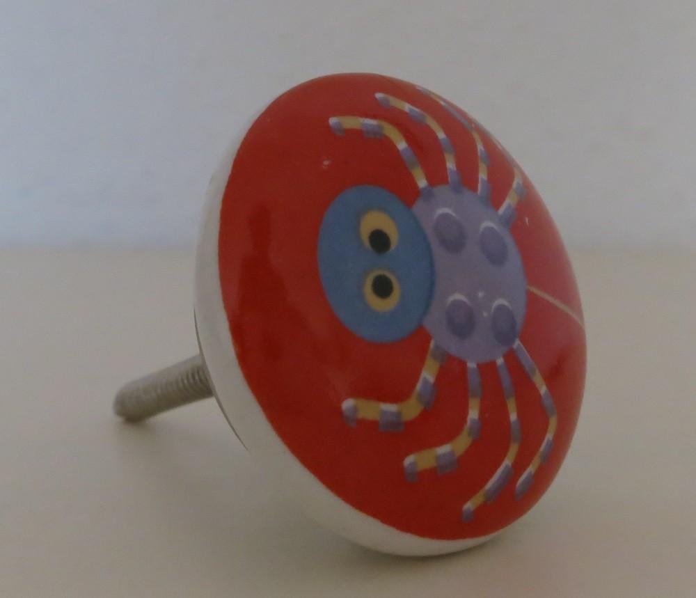 möbelknopf spinne - spider - möbelgriff kinder-zimmer porzellan