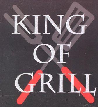 Blechschild - King of Grill - Retro Metallschild schwarz mit Spruch  – Bild 3