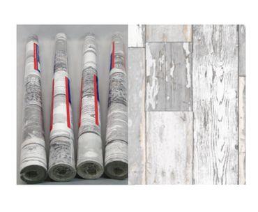 4 Rollen Klebefolie Holzoptik Scrapwood grau 90x200 cm Möbelfolie Holz – Bild 1