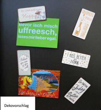 Kühlschrankmagnet - I`m a happy person - Vintage Deko Schild Magnet – Bild 2