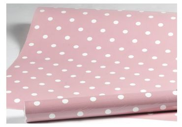 Klebefolie Dots Vintage rosa Möbelfolie Punkte Dekorfolie 45x200 cm