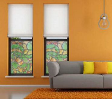 bunte Fensterfolie Nizza 0,675 x 2 m Glasdekorfolie selbstklebend  – Bild 4