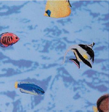 Fensterfolie Fische 45 x 200 cm Buntglas Glasdekorfolie selbstklebend  – Bild 1