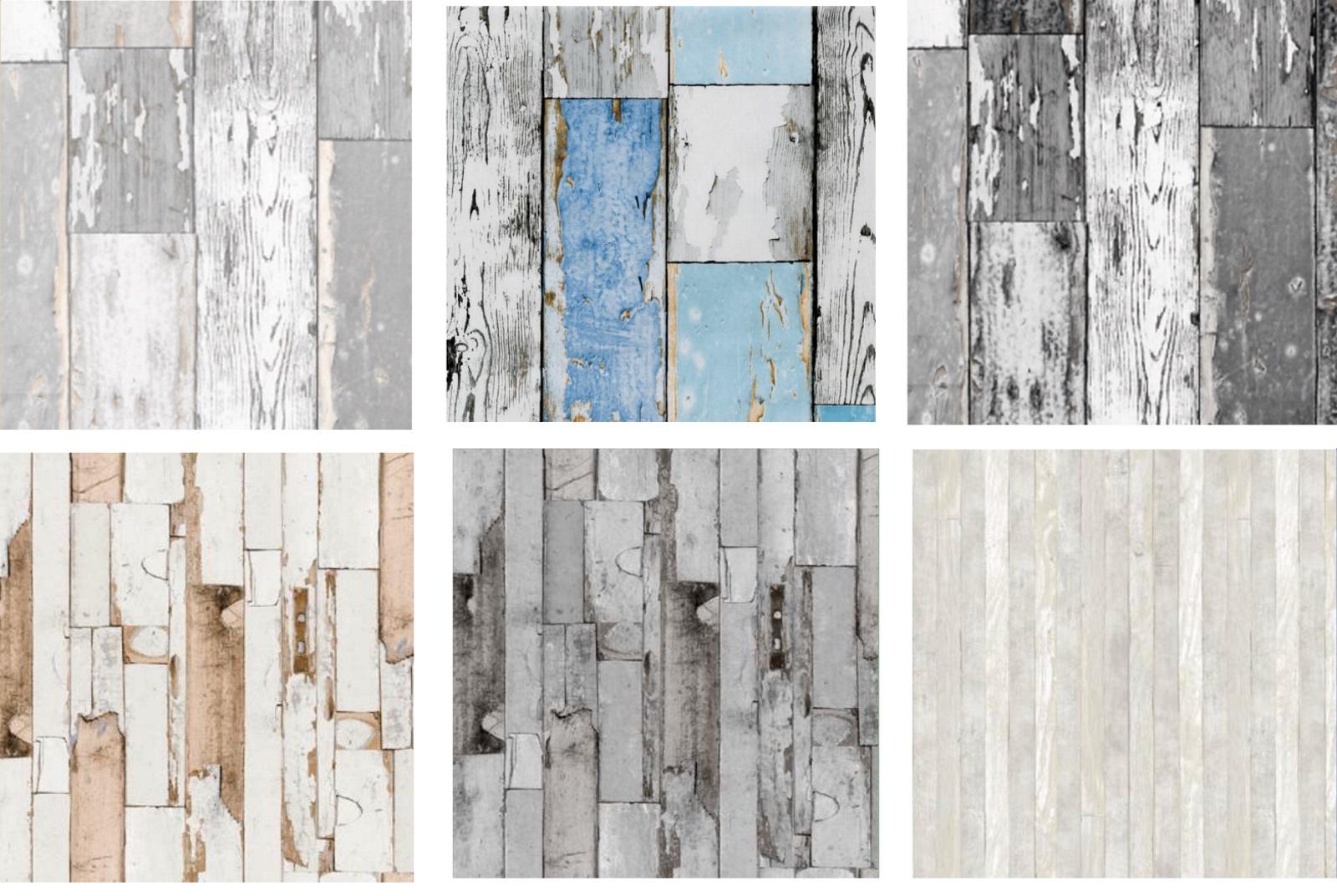 Klebefolie Holz Scrapwood blue Vintage Möbelfolie Holzoptik 0,45 x 15 Meter