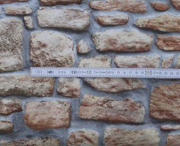 Klebefolie Steinwand Mauer rustikal - Möbelfolie Dekorfolie 90x200 cm – Bild 3