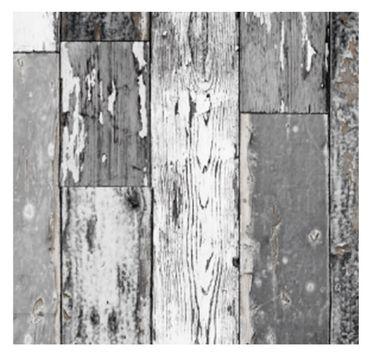 Klebefolie Holzoptik Scrapwood grau dunkel Möbelfolie Holz 45cm x15 m – Bild 1