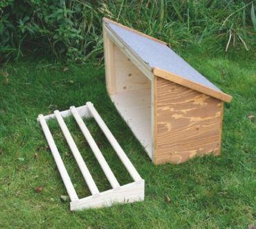 Hühnerstall mit Anbau und Sitzstangen  – Bild 3