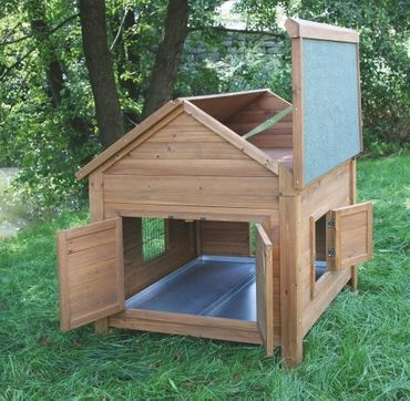 Hühnerstall mit Anbau und Sitzstangen  – Bild 2