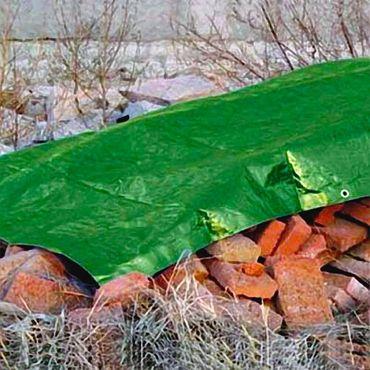 Abdeckplane ca. 100g/m² Befestigungsösen 3x4m t-343131 Sonderpreis