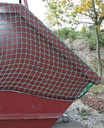 Ladungssicherungsnetz SafeNet Abdecknetz 6,5 m x 2,5 m Anhängernetz grün – Bild 3