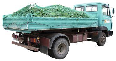 Ladungssicherungsnetz SafeNet Abdecknetz 8 m x 3,5 m Anhängernetz grün – Bild 4
