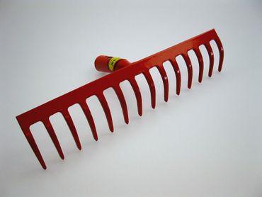 Polar Stahl-Rechen Rot 8 - 18 Zinken Stahlstärke 5 mm inkl. 150 cm Stiel Harke – Bild 5