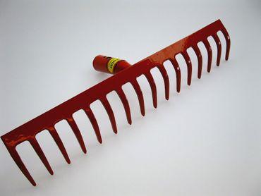 Polar Stahl-Rechen Rot 8 - 18 Zinken Stahlstärke 5 mm inkl. 150 cm Stiel Harke – Bild 6