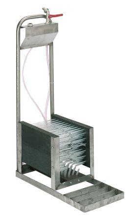 """Stiefelreiniger zum Aufstellen mit 1/2"""" - Wasseranschluss Edelstahlausführung – Bild 2"""