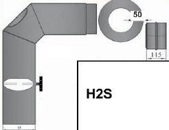 Rauchrohrset Kaminöfen & Herde 13 cm Ø grau