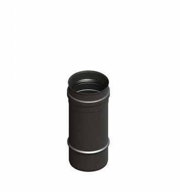 H&M Pelletrohr Ø 100 mm Kamin-Rauchrohr 500 mm Länge Gussgrau Senotherm lackiert