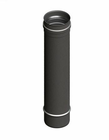 H&M Pelletrohr Ø 80 mm Kamin-Rauchrohr Ofenrohr 1000 mm Gussgrau