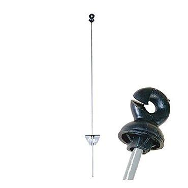 25 x Federstahl-Weidezaunpfahl 140cm Weidezaunpfähle Ringisolator Elektrozaun