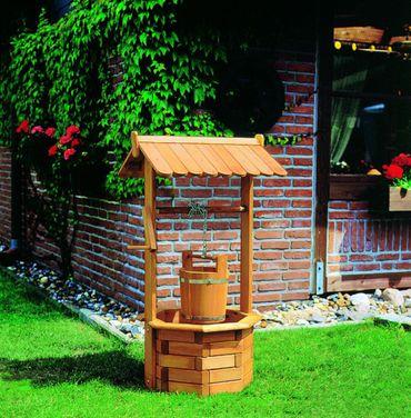 Deko Zierbrunnen Modell Nürnberg imprägniertes Holz Gartendekoration