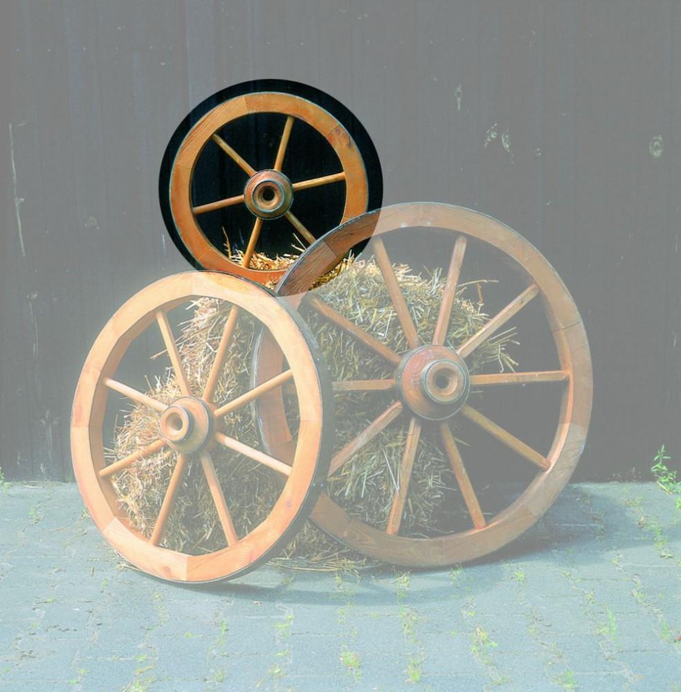deko-wagenrad Ø 50cm imprägniertes holz gartendekoration haus