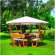 Pavillon Rosenheim mit grünem oder weißem Dach Holzpavillon 001