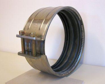 3x SML Verbinder DN150 CV Schelle mit Krallring B-Ware Edelstahl Abwasserrohre