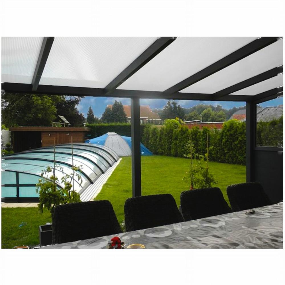 terassenuberdachung aluminium, aluminium terrassen Überdachung aus polycarbonat-stegplatten 16 mm, Design ideen