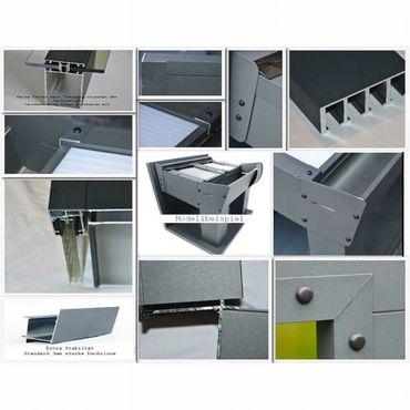 Aluminium Doppel-Carport Satteldach 615 x 500 cm inkl. Polycarbonat Überdachung  – Bild 2