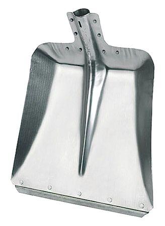 2 Stück Aluminium-Schaufel 36 cm breit Gr. 9 ohne Stiel Stoßkante verzinkt