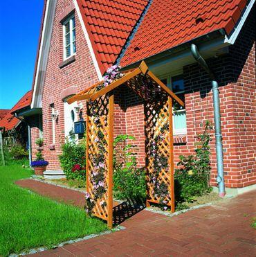Holz-Rosenbogen B 167 x T 53 x H 219cm Kiefernholz imprägniert Pergola