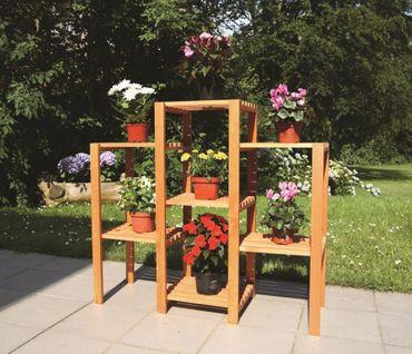 Holz-Blumenetagerie Heilbronn gerade Blumenregal Kiefernholz massiv