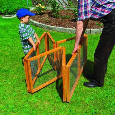Holz-Freilaufgehege klappbar für Kleintiere Auslaufgehege Gehege – Bild 2
