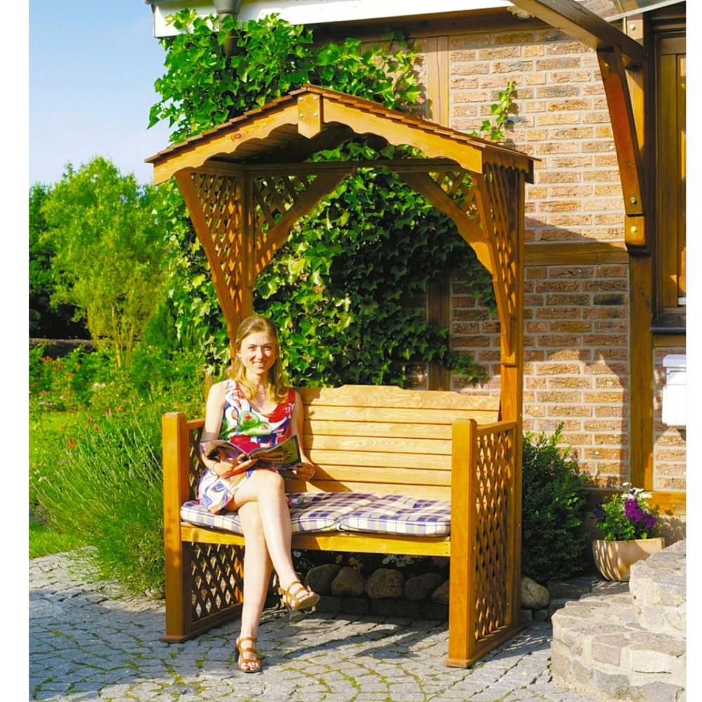 Holz gartenlaube starnberg gartenbank kiefernholz massiv impr gniert haus garten gartendekoration - Holz gartenlaube ...