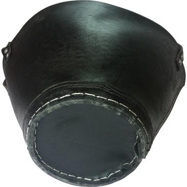 Holzkorb Gummi aus recycelten Autoreifen gefertigt in Handarbeit Kaminholzkorb klein – Bild 2