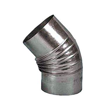 FAL-Rauchrohr 45° Bogen Ø 120 mm Ofenrohr 0,6 mm feueraluminiert