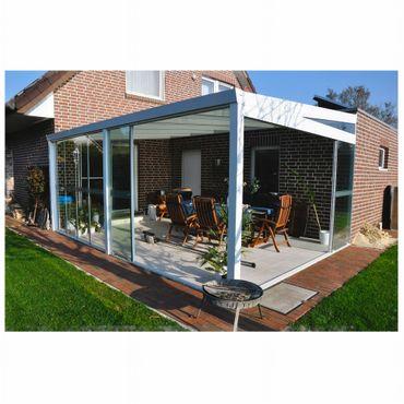 Aluminium Gartenzimmer mit 8 mm starken Glas-Schiebewände und Glasdach Kombinationsmöglichkeiten – Bild 2