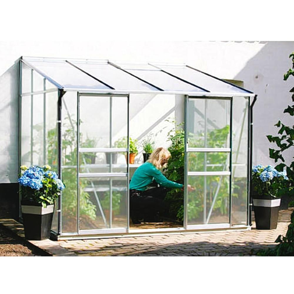 ida 7800 alu anlehngew chshaus hkp 6 mm balkon gew chshaus 7 8 m mit fundament. Black Bedroom Furniture Sets. Home Design Ideas