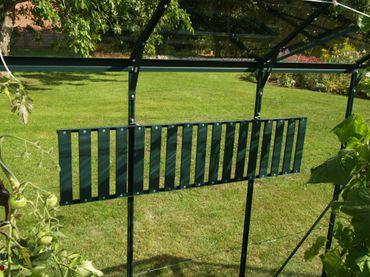 Aluregal, abklappbar, grün, 120x30cm – Bild 2