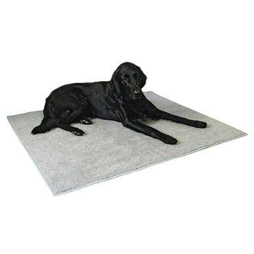 Thermoteppich, 125 x 80 cm Anti-Rutsch, grau – Bild 1