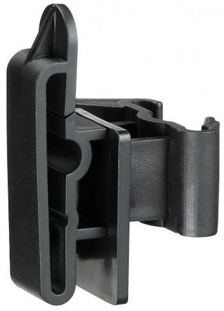Klipp-Bandisolator für T-Pfahl, für Bänder bis 50 mm, schwarz