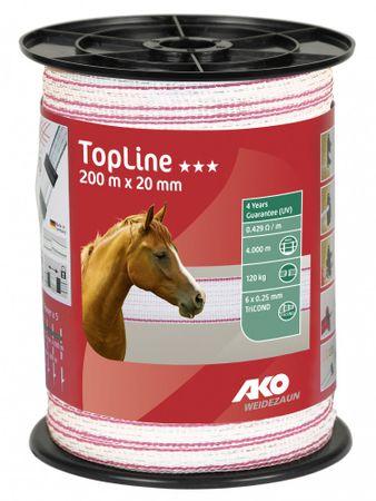 Weidezaunband TopLine Länge 200 m Breite 20 mm weiß pink 6 x 0.25 mm TriCOND
