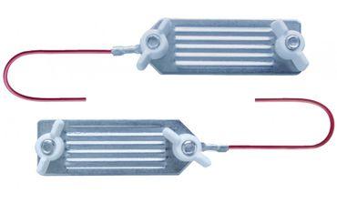 3 Stück Weidezaun Bandkupplung bis 40 mm Bandbreite Edelstahl Elektrozaun