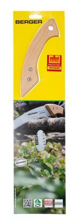 Berger Astsäge Gärtnersäge mit Buchenholzgriff und wechselbares verchromtes Sägeblatt 330 mm mit Räumzähnen  – Bild 5