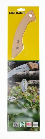 Berger Astsäge Gärtnersäge Buchenholzgriff auswechselbares verchromtes Sägeblatt 330 mm Gesamtlänge 500 mm – Bild 6