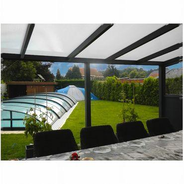 Terrassen Überdachung Aluminium 500 x 250 cm mit Polycarbonat Stegplatten 16 mm  – Bild 3