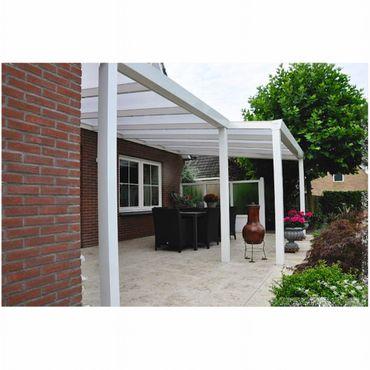 Terrassen Überdachung Aluminium 400 x 300 cm mit Polycarbonat Stegplatten 16 mm  – Bild 4