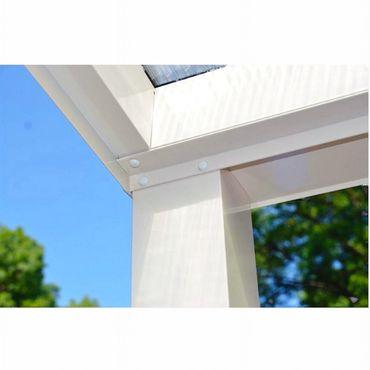 Terrassen Überdachung Aluminium 400 x 300 cm mit Polycarbonat Stegplatten 16 mm  – Bild 5