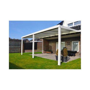 Terrassen Überdachung Aluminium 500 x 300 cm mit Polycarbonat Stegplatten 16 mm  – Bild 1