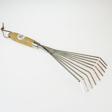 Edelstahl Kleinfeger Laubbesen 16 cm Eschenholzstiel t-341448 – Bild 2