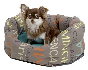 Kuschelbett City ø45cm, bunt Hundebett Hund Tier Erholung – Bild 1